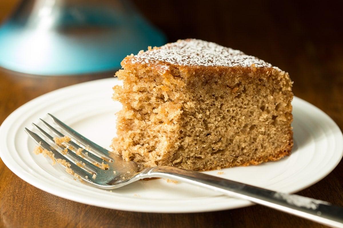 Spice cake with maple glaze.