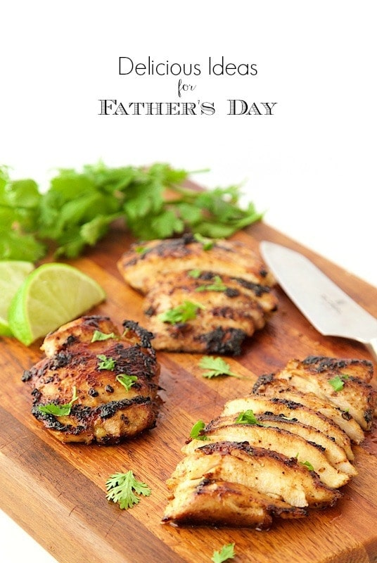 Delicious Ideas for Father's Day-a wonderful collection of Dad-inspired recipes to bring a smile to any guy's face; young, old or anywhere in between! thecafesucrefarine.com