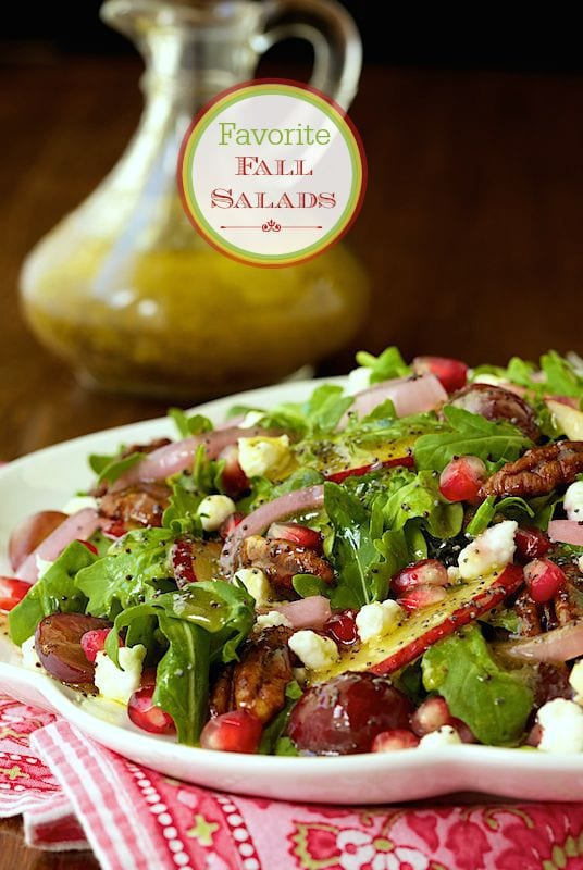 Favorite Fall Salads - a collection of delicious salads featuring autumn produce!