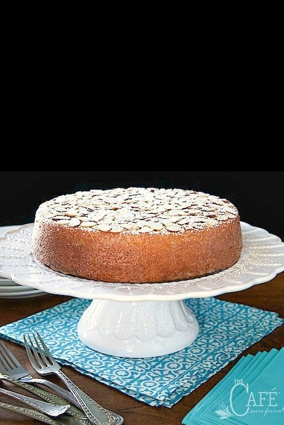 Swell Easy French Almond Cake The Cafe Sucre Farine Birthday Cards Printable Benkemecafe Filternl