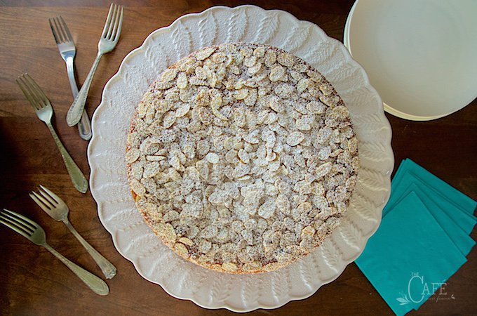 French Almond Cake - incredibly delicious and incredibly easy. One-bowl, no-mixer, just-a -few-minutes-to-throw together!