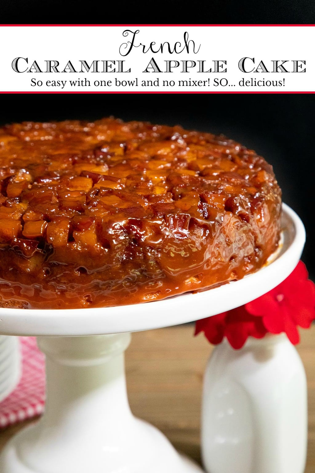 French Caramel Apple Cake