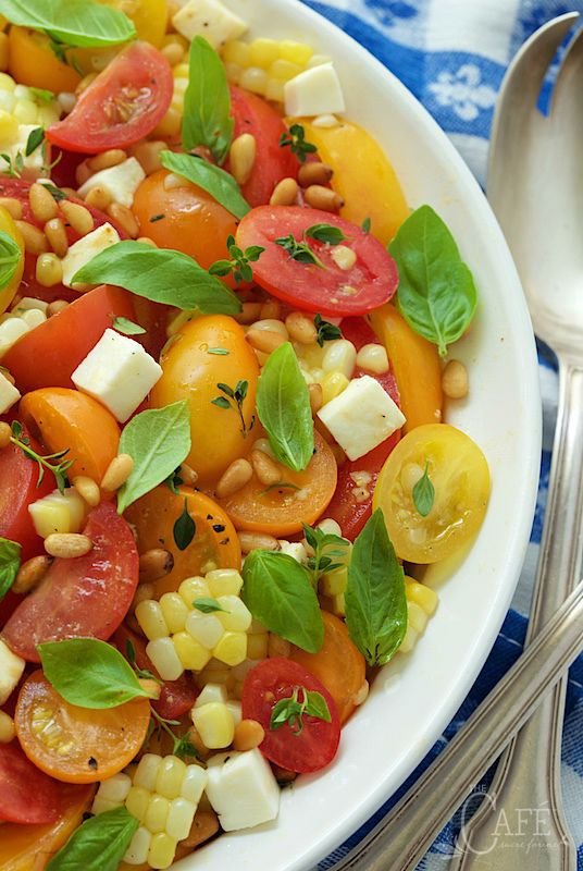 "Fresh Corn and Tomato Caprese Salad - if you look up ""summer"" in th..."