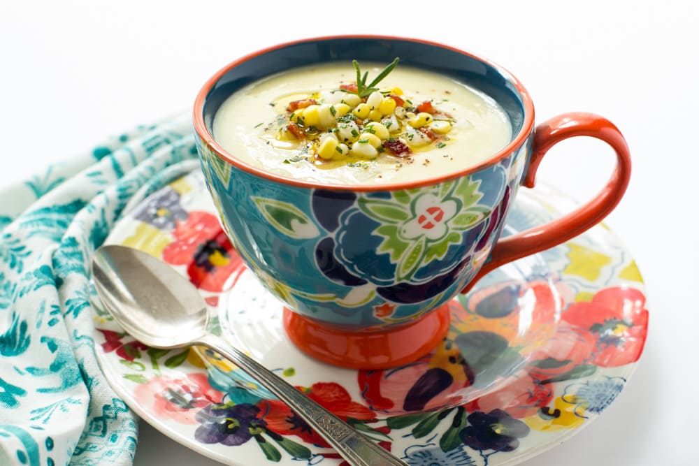 Fresh Corn Soup | The Café Sucre Farine