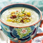 Fresh Corn Soup - a delicious, make ahead soup that's perfect as an appetizer soup and also wonderful for lunch or casual dinners.