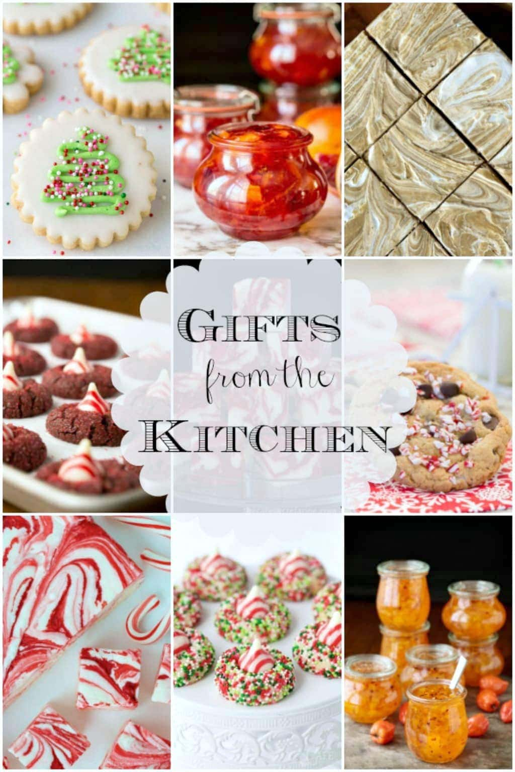 Collage of Gifts from the Kitchen with text in the center