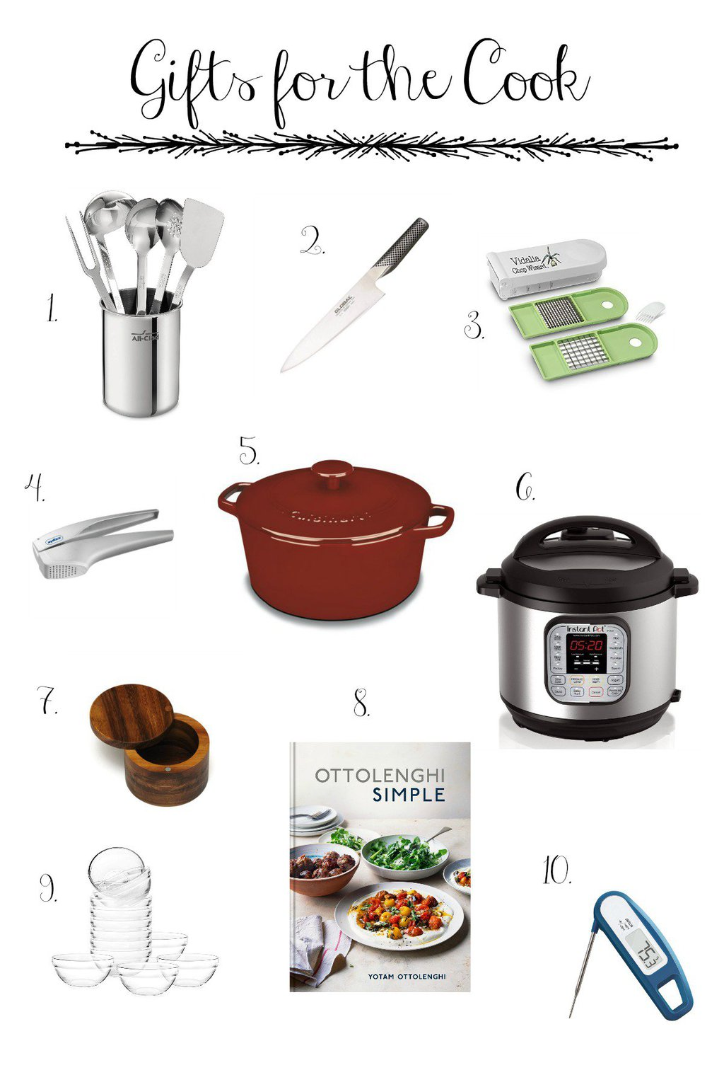 images of our gift guides for the cook