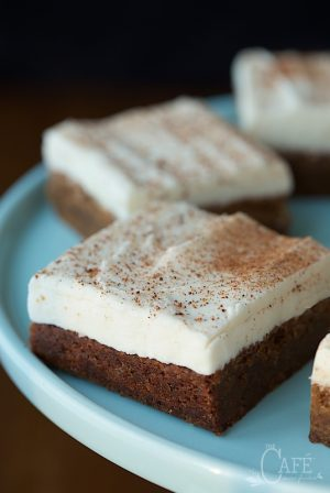 Gingerbread Blondies - I've been told that these chewy, indulgent gingerbread-spiced blondies are the best thing I've ever made!