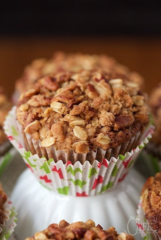 Gingerbread Morning Glory Muffins - perfect for breakfast, brunch and snacking, these delicious, healthy muffins with lots of gingerbread flavor are always a crowd pleaser