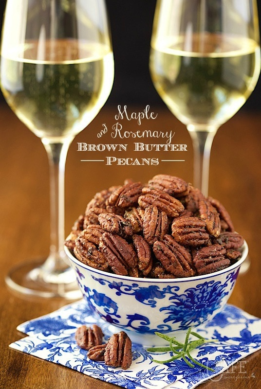 Maple-Rosemary-Bourbon Pecans Recipe — Dishmaps