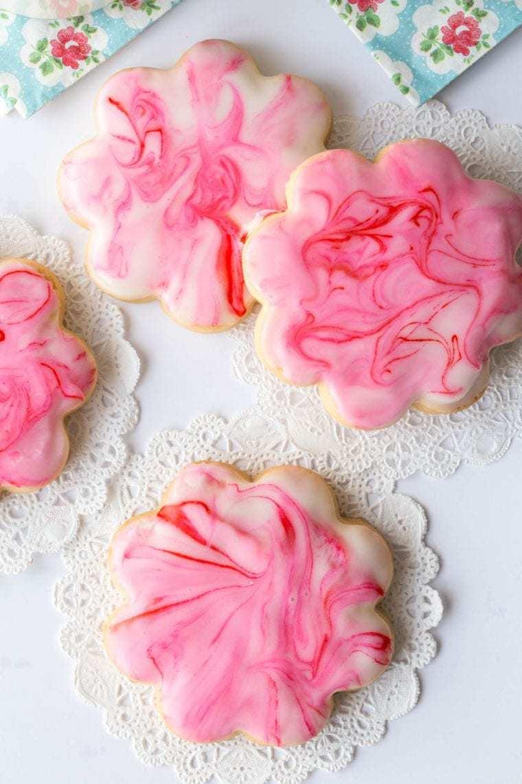 Glazed Shortbread Cutout Cookies