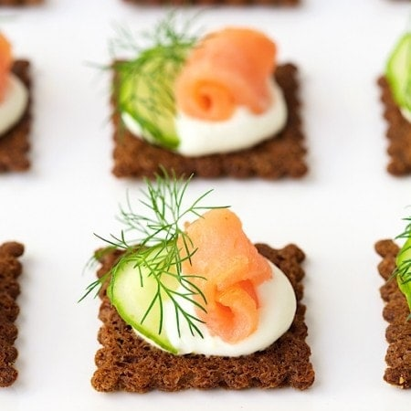 Goat Cheese Mousse Canapés - a delicious and easy, make-ahead appetizer that's perfect for low-stress entertaining!