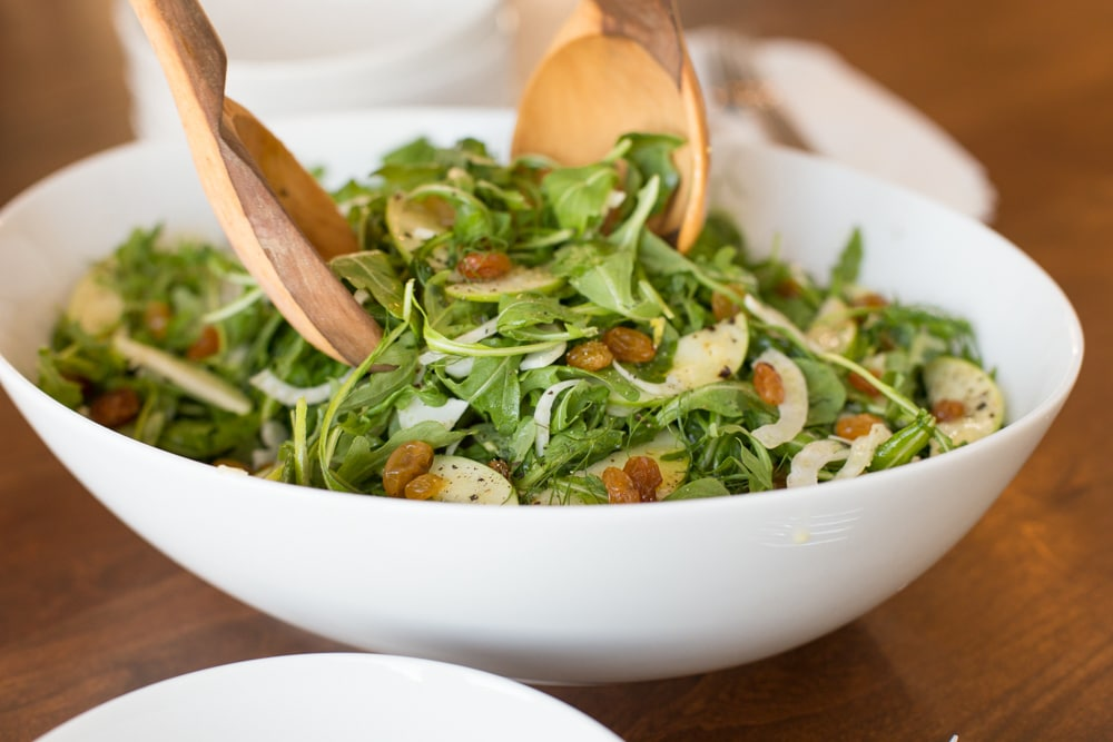 Granny Smith and Fennel Arugula Salad - beautiful and delicious, this seasonal salad is a perfect way to add a fresh touch to all those winter comfort meals! www.thecafesucrefarine.com