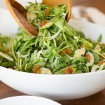 Granny Smith and Fennel Arugula Salad - beautiful and delicious, this seasonal salad is a perfect way to add a fresh touch to all those winter, comfort meals!