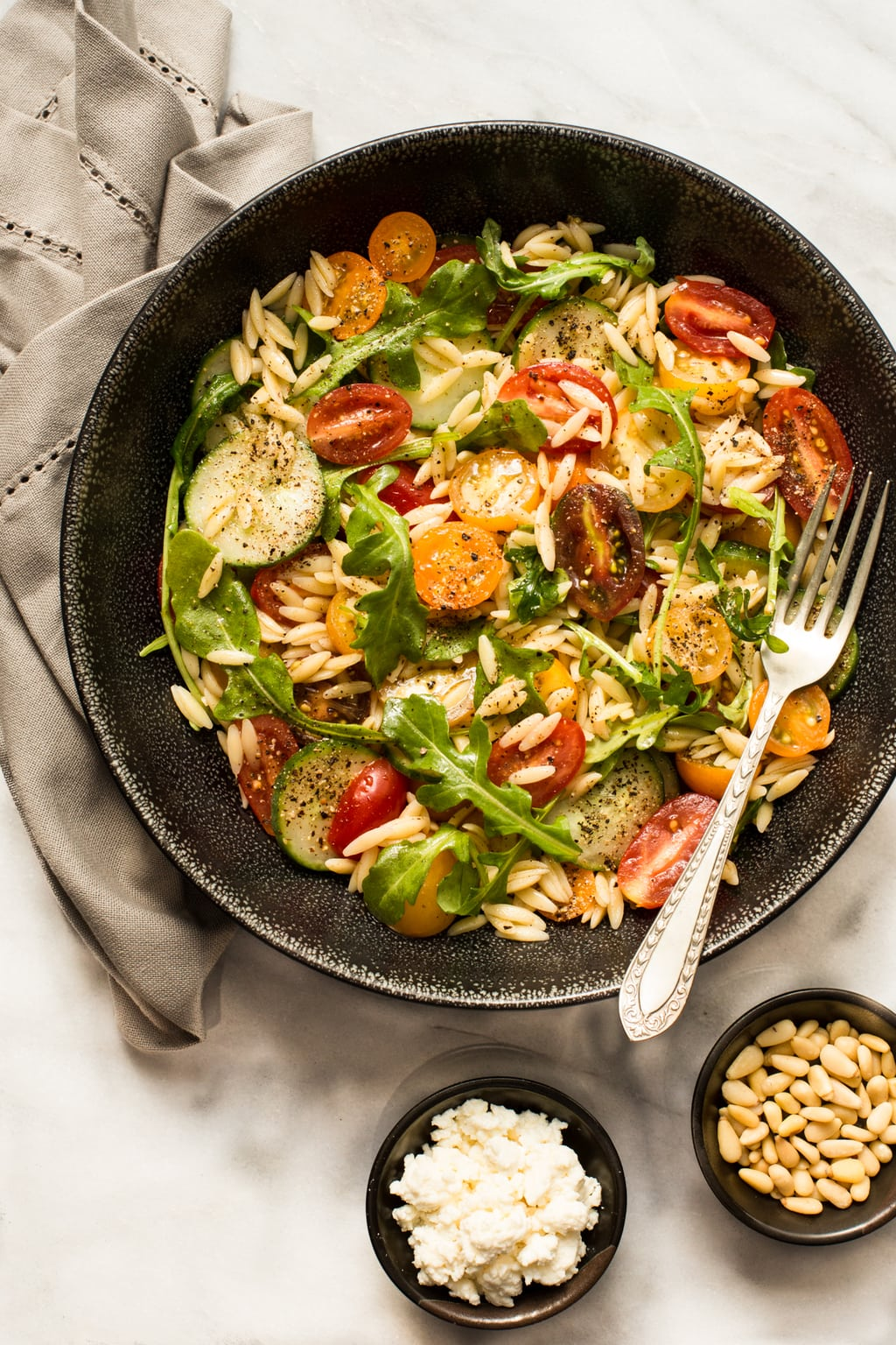 Greek Pasta Salad - If you've got a busy lifestyle but enjoy healthy, great quality, home cooked meals, try out Terra's Kitchen home food delivery service! thecafesucrefarine.com
