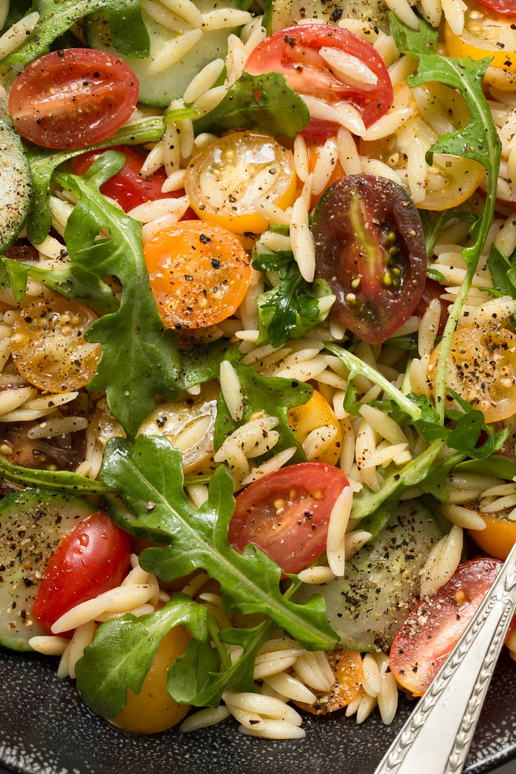 Greek Pasta Salad - from Terra's Kitchen. All the work is done ahead of time for you! This wonderful salad comes together in less than 15 minutes with a little help from Terra's Kitchen. thecafesucrefarine.com
