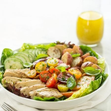 Grilled Chicken with Tomato Cucumber Salad - light, lean, healthy and incredibly delicious!