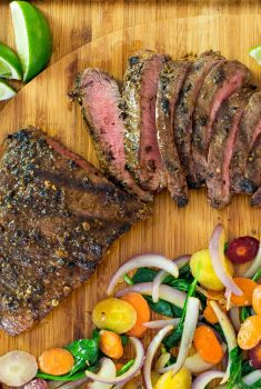 Grilled Mexican Flat Iron Steak