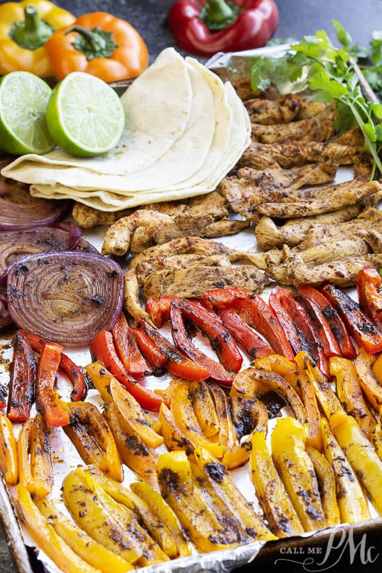 Photo of Chili Lime Sheet Pan Chicken Fajitas