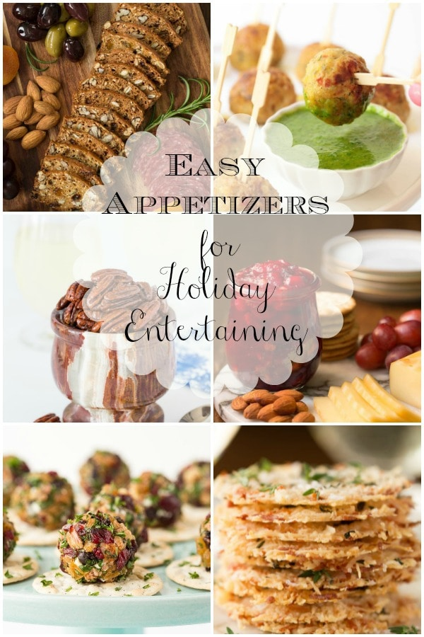 A round-up of our favorite, easy appetizers that are perfect for your holiday entertaining! #easyentertaining #holidayappetizers