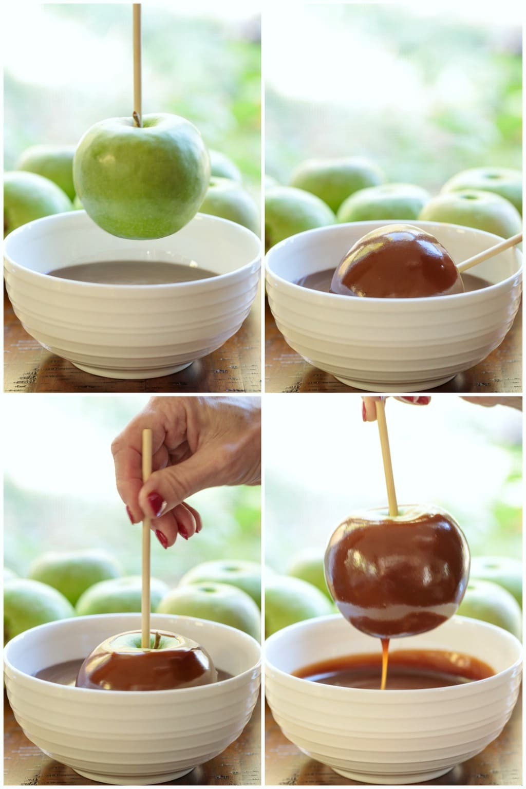 Homemade Caramel Apples Collage