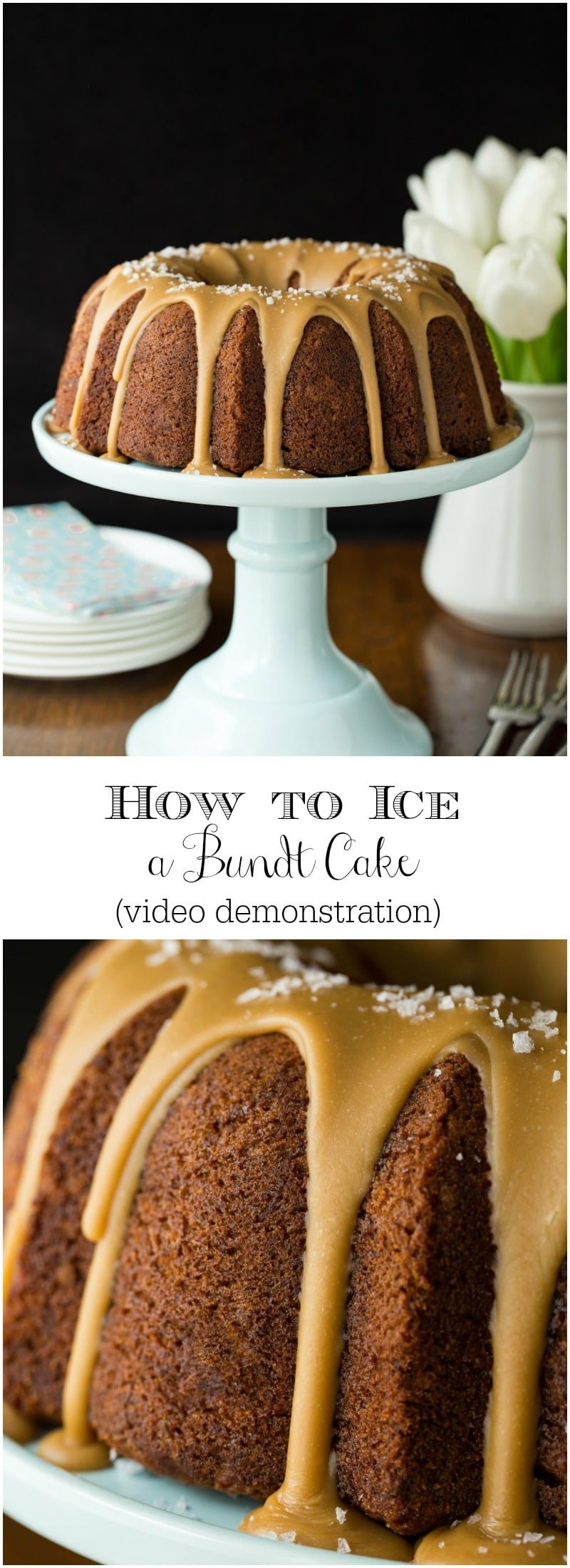 How to Ice a Bundt Cake - an Easy and Beautiful Technique! Make your Bundt cakes look as pretty as they taste - with minimal effort!