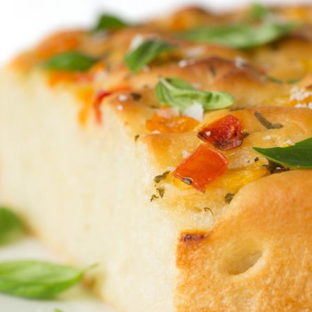 Tomato, Basil, Parmesan Focaccia - this Italian-inspired bread may just be one of the most delicious things you ever put in your mouth!