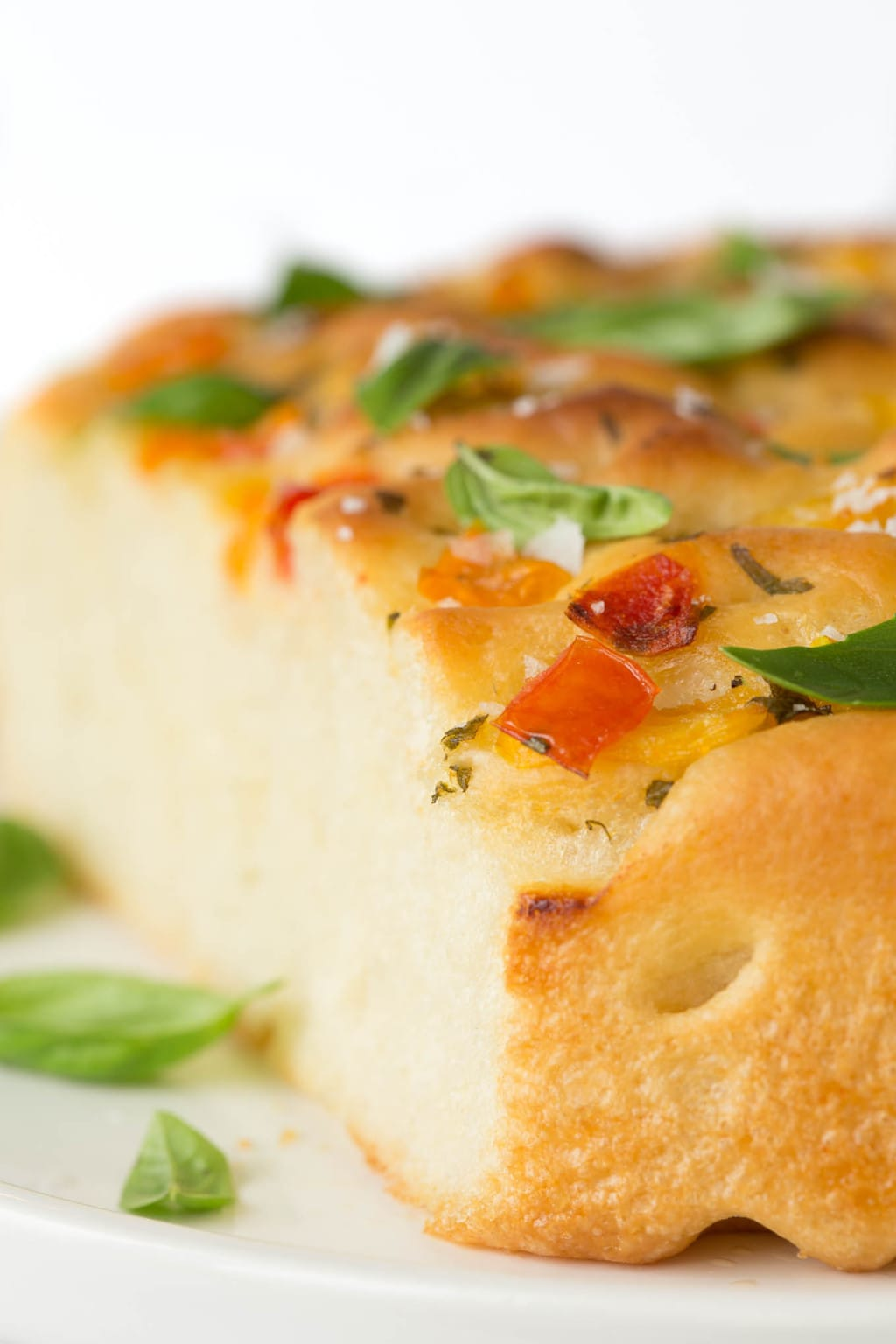 Tomato Basil Parmesan Focaccia - this Italian-inspired bread may just be one of the most delicious things you ever put in your mouth! thecafesucrefarine.com