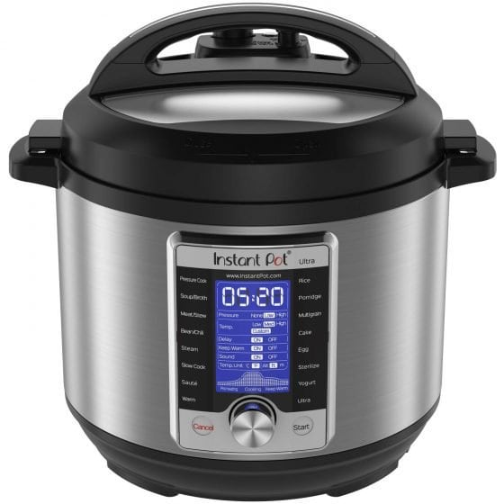 Stock photo of a Instant Pot Ultra kitchen appliance.