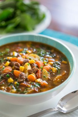 Instant Pot Italian Vegetable Beef Soup