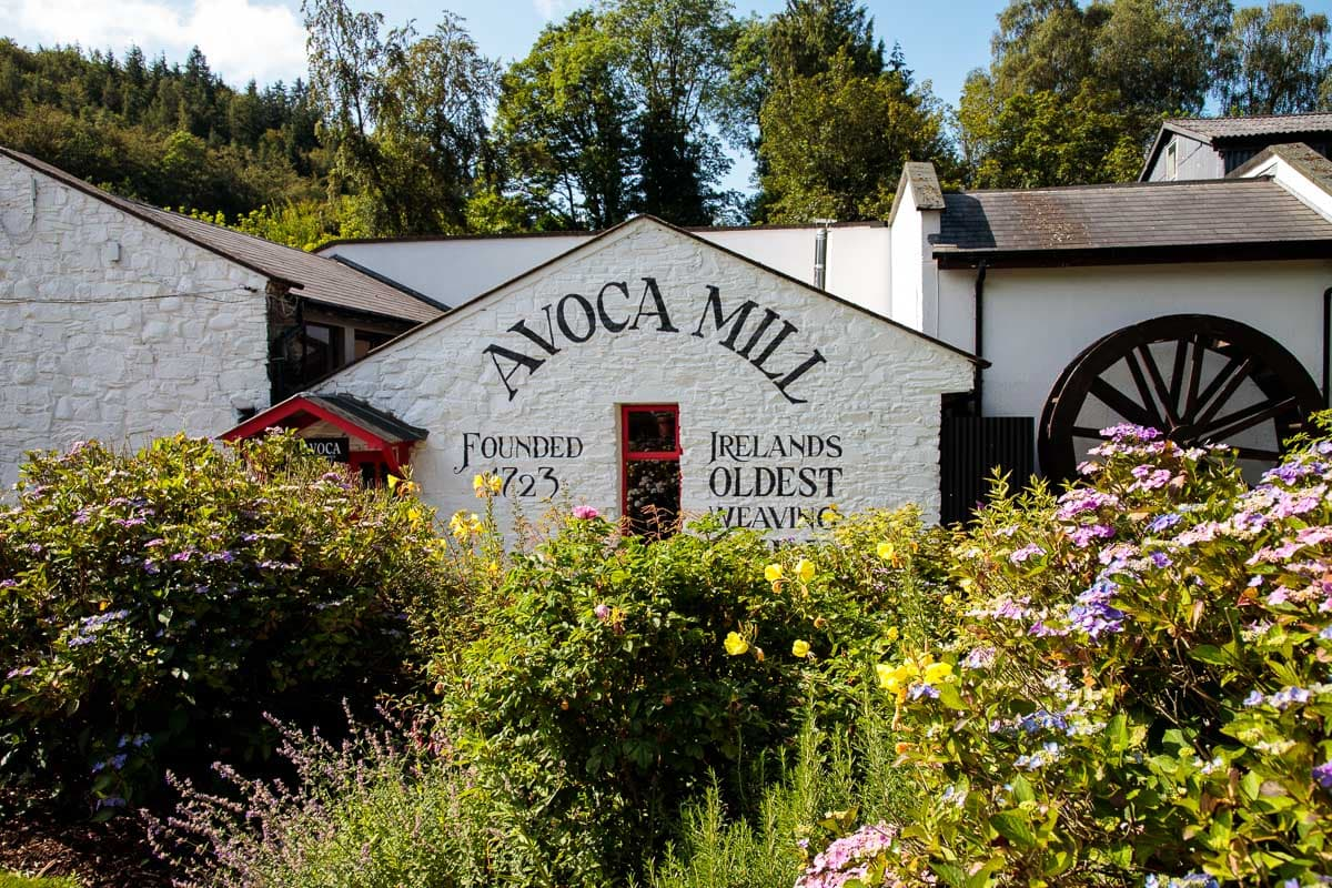 Photo of the original Avoca weaving mill building.