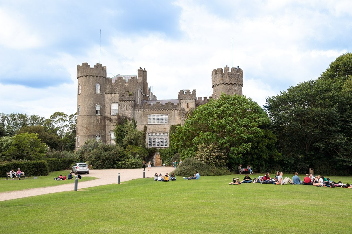 Photo of the front of Malahide Castle in Malahide for the blog post: Ireland, Off the Beaten Path - Part 1.