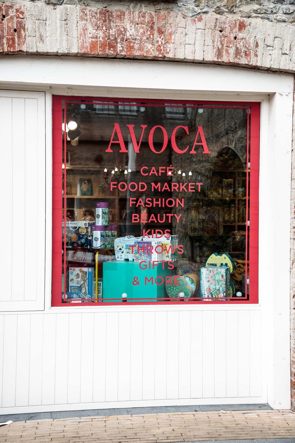 Photo of an Avoca storefront for the blog post: Ireland, Off the Beaten Path - Part 1.