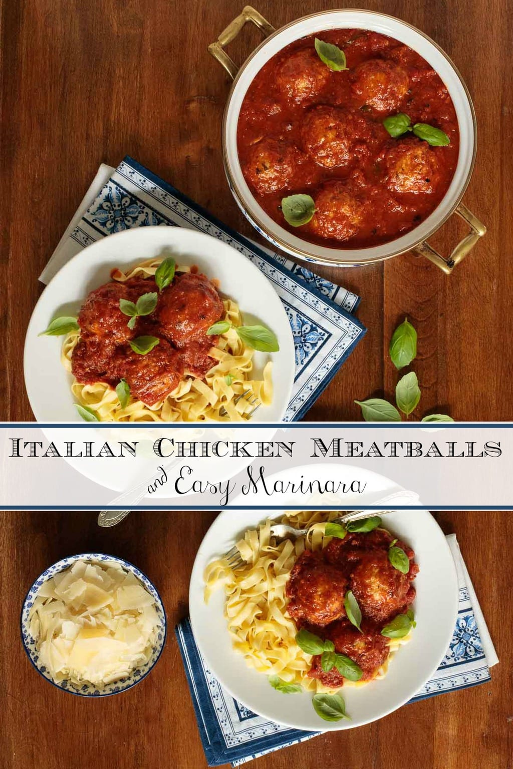 Italian Chicken Meatballs and Marinara