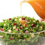 Kale and Apple Salad with Honey Ginger Dressing