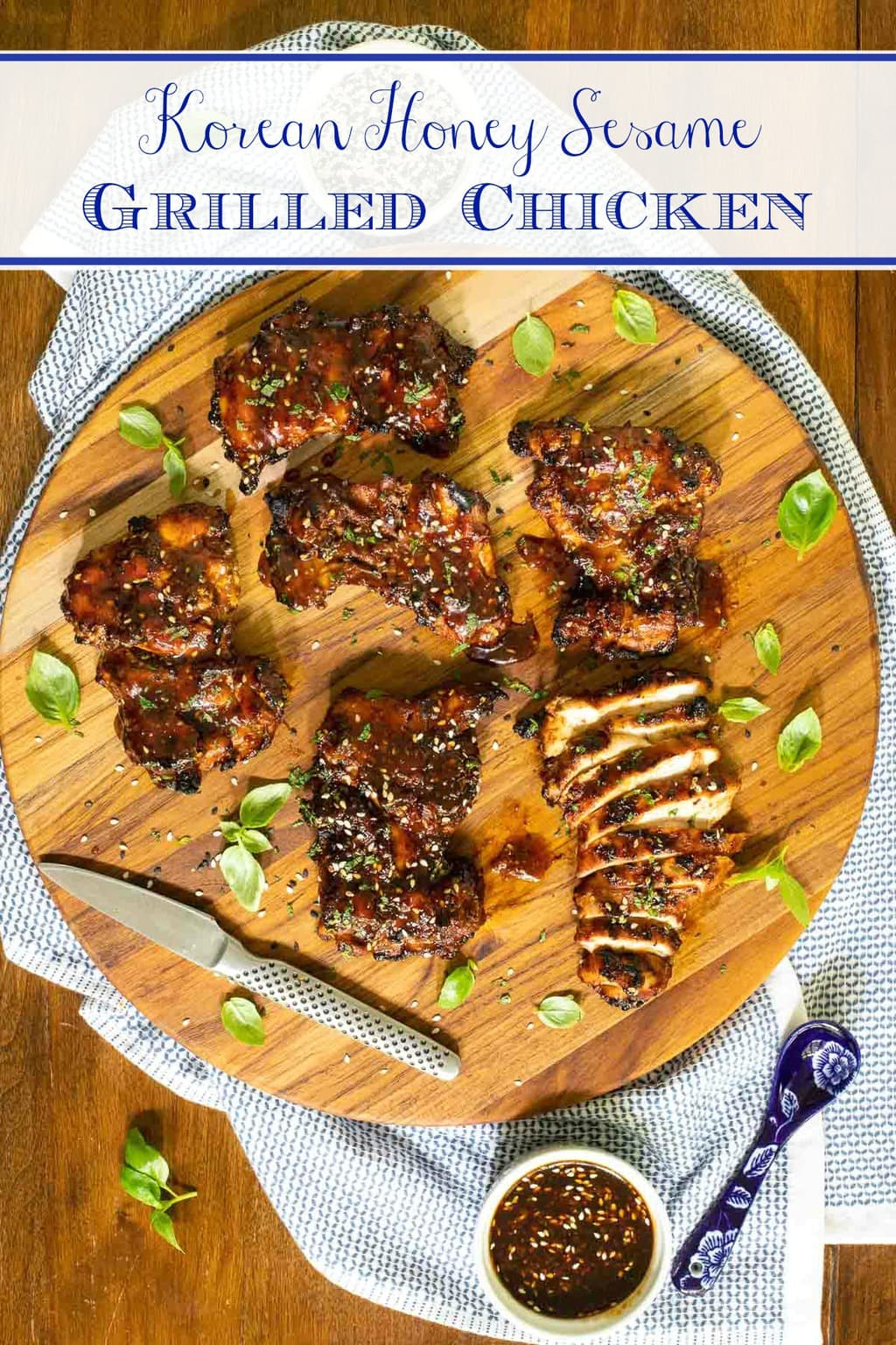 Korean Honey Sesame Grilled Chicken