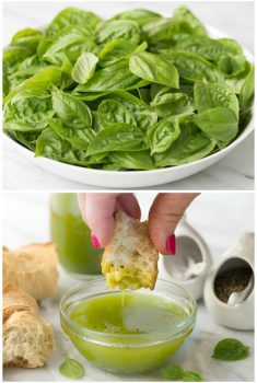 Summery Lemon Basil Oil