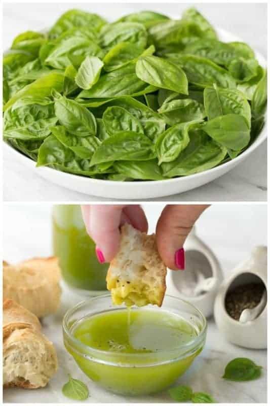 Summery Lemon Basil Oil