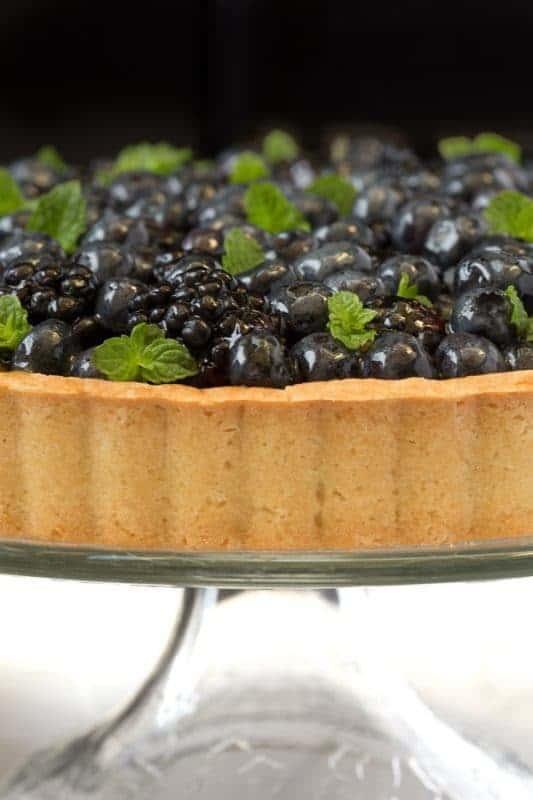 Lemon Cheesecake with Glazed Berries