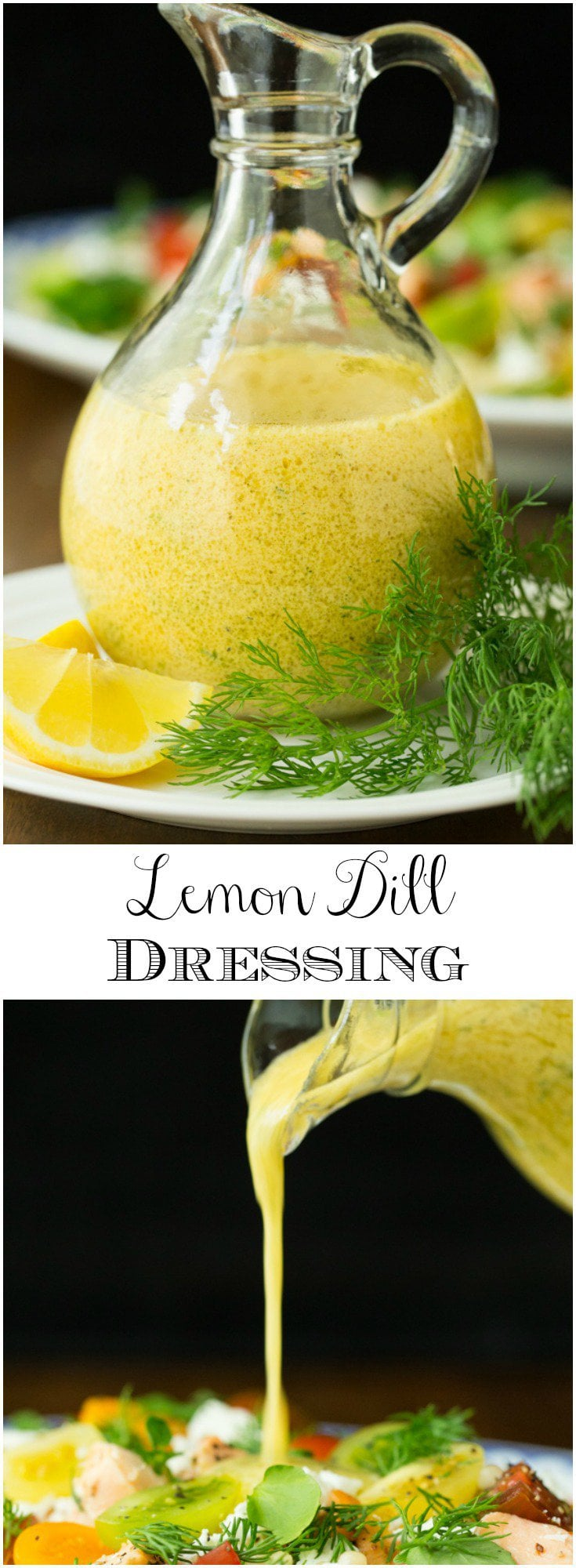 With bright, fresh flavor, this easy Lemon Dill Dressing is perfect with greens and veggies as well as chicken, fish and shrimp!