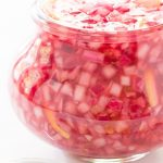 Lemon Pickled Red Onions - a beautiful and delicious condiment that takes less than 5 minutes. Perfect for sandwiches, salads, pizzas...