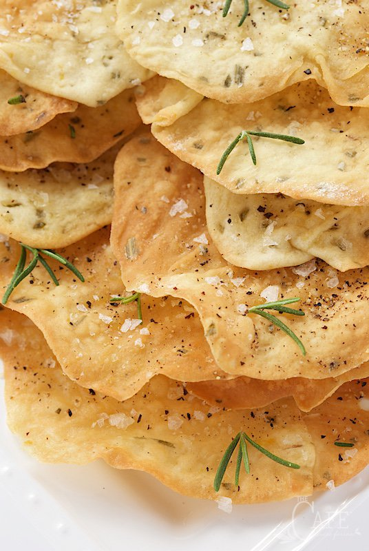 Lemon Rosemary Flatbread Crackers