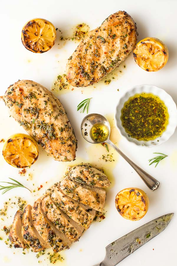 Lemon Rosemary Grilled Chicken Breasts