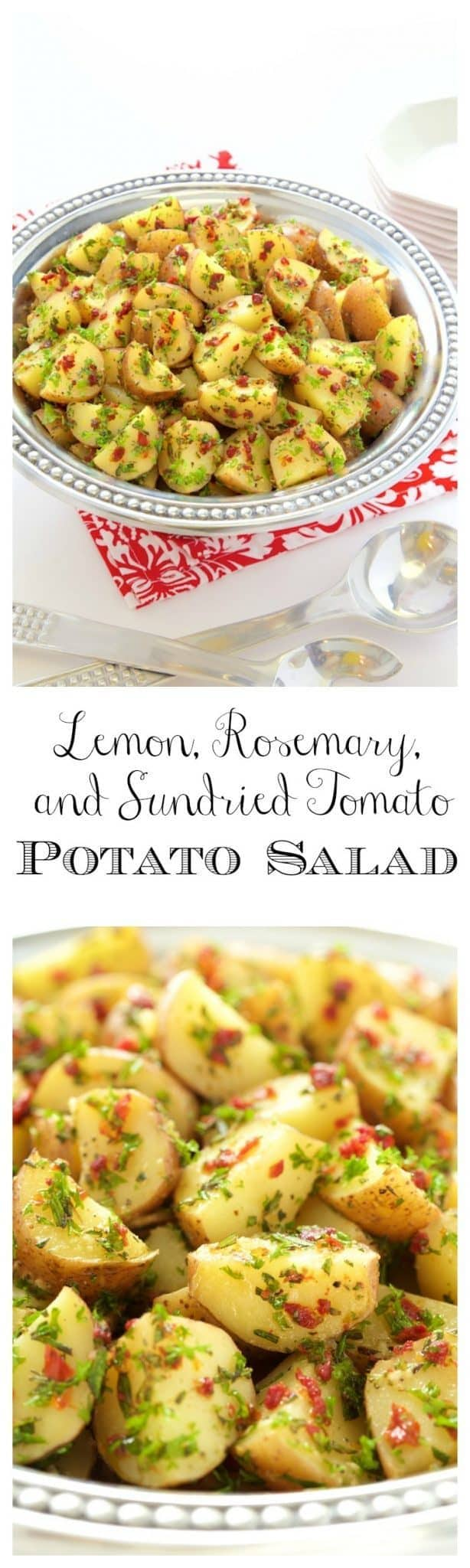 Simple, delicious, this no-Mayo potato salad is always popular!