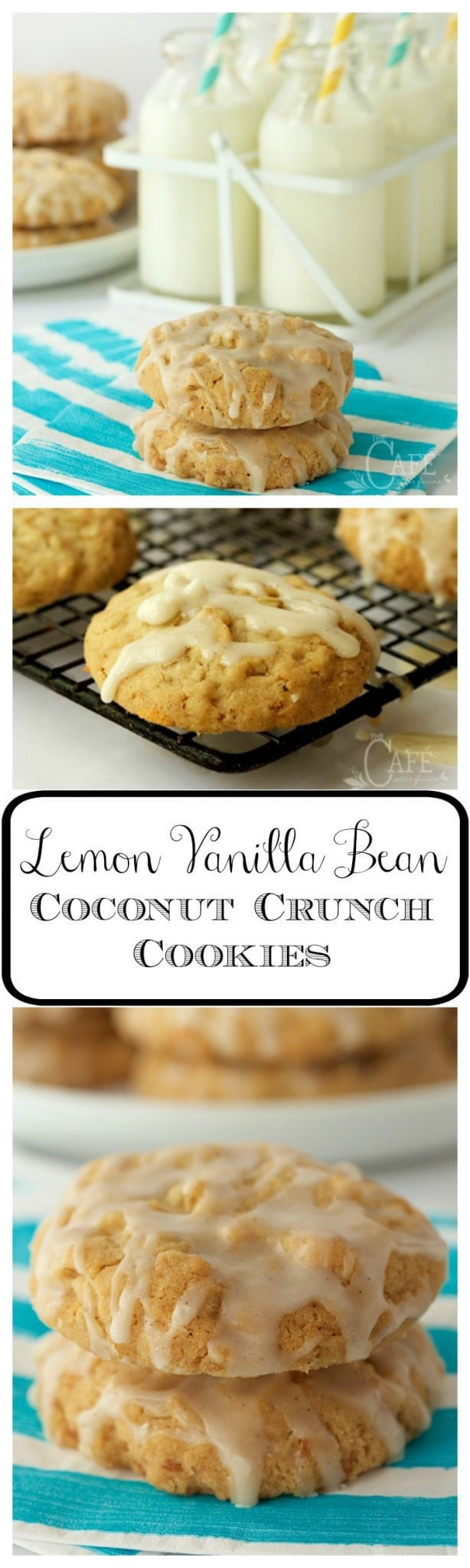 Lemon Vanilla Bean Coconut Crunch Cookies - the name explains a lot but it doesn't tell that they're also buttery, crisp and melt-in-your-mouth delicious!