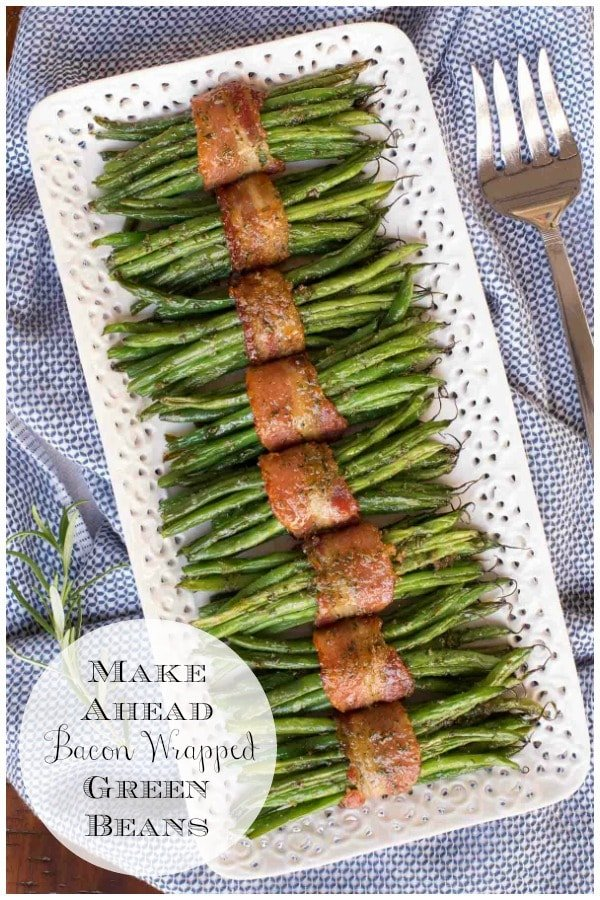 These Bacon Wrapped Green Beans are extraordinarily delicious and can be prepped a day in advance for easy entertaining! #baconwrappedgreenbeans, #bestgreenbeans