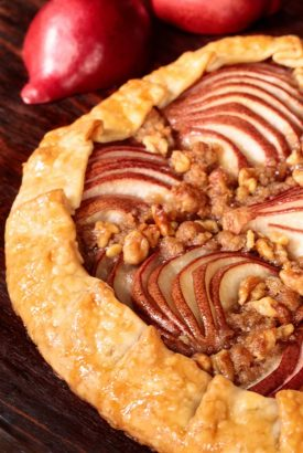 Maple-Glazed Red Pear Galette