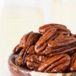 Maple Molasses Glazed Pecans