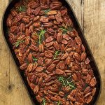 Maple and Rosemary Brown Butter Pecans - oh my gosh, these are addictively delicious!