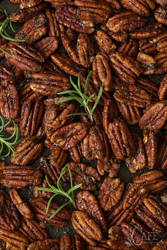 Maple and Rosemary Brown Butter Pecans - with a magical combination of maple syrup, brown butter and rosemary, these are addictively delicious - be sure to make plenty!